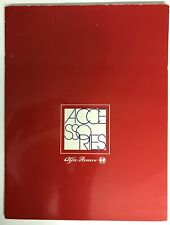 Alfa Romeo Accessories Catalog 1985 Magazine Facts, Specifications, Photographs