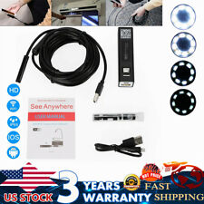 Endoscope HD Wifi USB 8pcs LED Light Camera Cable Wireless 10M IP68 Waterproof
