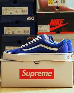 "Supreme / Vans Old Skool ""Iridescent"" Royal Blue size 12 DS SS16"