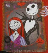 New Jack & Sally The Nightmare Before Christmas Woven Throw Gift Blanket Movie