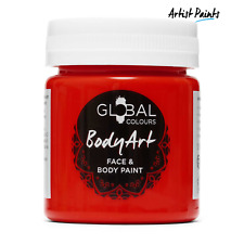 Water Based Deep Red Face and Body Paint Makeup Genuine Global Colours -