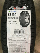 4 New ST 205 75 15 LRD 8 Ply Arisun ST100 Radial Trailer Tires