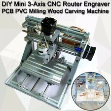 DIY CNC Router 3-Axis Engraver hine PCB PVC Milling Wood Carving Tool Set Kit US
