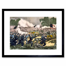 War American Civil Battle Gettysburg USA Framed Wall Art Print
