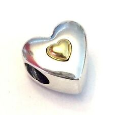 Authentic Pandora Happy Anniversary Heart Charm W/ 14K Gold TAG & BOX Included