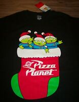Walt Disney TOY STORY ALIENS IN SANTA HAT CHRISTMAS T-Shirt 2XL XXL NEW w/ TAG