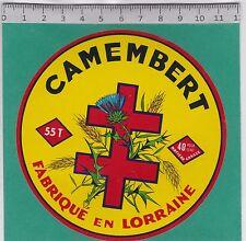 J332 FROMAGE CAMEMBERT CROIX DE LORRAINE  DIEPPE SOUS DOUAUMONT MEUSE