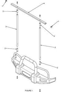 Nice Rack universal ladder rack, DIY, Bolt on!! Removable! *CUSTOM* Rhino