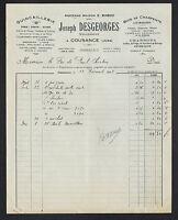 """COUSANCE (39) QUINCAILLERIE & METAUX """"Emile BABOZ / J. DESGEORGES Succ"""" en 1928"""