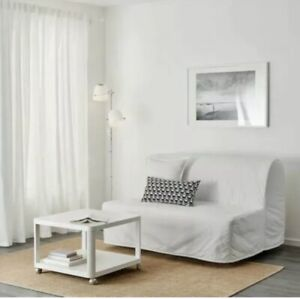 IKEA LYCKSELE COVER for LYCKSELE Sleeper Sofa RANSTA WHITE Slipcover 201.195.45