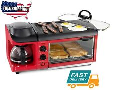 Home Kitchen All in one Red Toaster Ovens Appliances Dining Bar Cooking Food Fit