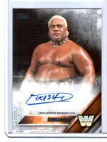 WWE Rikishi 2016 Topps Silver Authentic Autograph Card SN 4 of 25