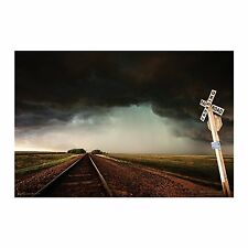 STORM TRACKS - SCENIC POSTER - 24x36 RAILROAD CLOUDS 10860