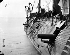 New 8x10 Civil War Photo: Effects of Confederate Fire on Ironclad USS GALENA