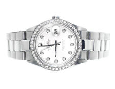 Mens Excellent Rolex Datejust Oyster Stainless Steel Diamond Watch with 2.15 Ct