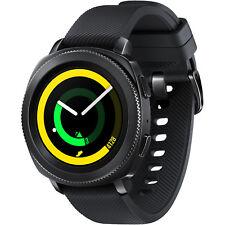 SAMSUNG  Gear Sport Smartwatch, Silikon, S/L, Schwarz