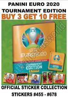 PANINI EURO 2020 TOURNAMENT EDITION STICKER COLLECTION - #455 - #678