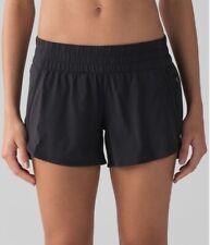 """Lululemon Tracker Shorts Size 4 Black 4"""" Inseam"""