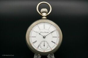 Very Rare Illinois Grade 64 Railroad King 18 Size 17 Jewel Antique Pocket Watch