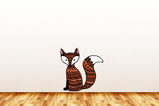 """CLR:WALL - Patterned FOX - Vinyl Wall Decal Home Decor ©YYDC (16.5""""w x 17'h)"""