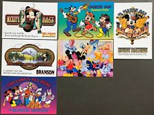 # T1380    WALT DISNEY  CHARACTERS  POSTCARD LOT,  6  DIF. CARDS,   MICKEY MOUSE