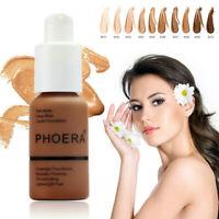 Phoera Foundation Makeup Full Coverage Liquid Base Brighten Long Lasting Shades