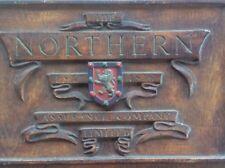 Antique Advertising Sign Northern Assurance Co Ltd estd 1836 Plaster on Canvas