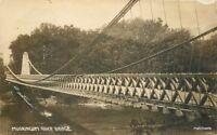Dresden Ohio Original Suspension Bridge C-1910 RPPC real photo postcard 10814