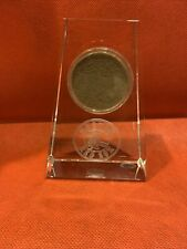 Boston Red Sox Crystal w/ Authentic Dirt from Fenway Park STEINER SPORTS