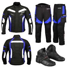 Motorbike Cordura Suit Armoured Jacket Trouser Waterproof Leather Boots Armors