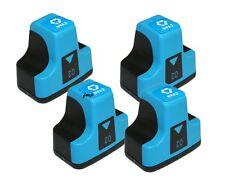 4 PK for HP Printers HP02 CYAN Ink Set 3310 C5180 C6180 C6280 C7180 C8180