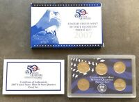 USA 2007 S State Quarter Proof Set San Francisco PP polierte Platte 25c QUARTERS
