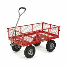 Garden Carts And Wagons With Big Wheels Tires Lawn Removable Sides Utility Best