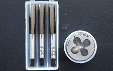 METRIC LEFT HAND TAPS + DIE SET M11 x 1.25 PLUG TAPER SECOND