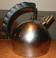 Large Alessi tea Kettle Sapper Diameter 19Cm stainless and brass & Copper exc. c