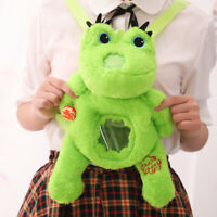 Cute Kawaii Cartoon Anime Plush green Frog backpack Messenger Bag