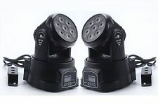 2Piece 7X10W RGBW 4 in 1 LED Mini Moving Head DJ Disco Stage Party Effect Light