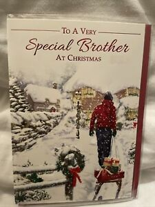 brother Christmas card / Christmas cards for brother - 4 styles