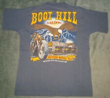 VTG 90s BOOT HILL SALOON DAYTONA BEACH FL POCKET T SHIRT BIKER LARGE 2 SIDED USA