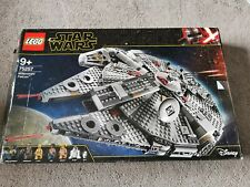 Lego Star Wars 75257 Millennium Falcon Mint Condition Mini Figs + Display Stand