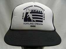 WESTERN REGIONALS - AHAUS AMATUER HOCKEY - VINTAGE 1986 SNAPBACK  BALL CAP HAT!