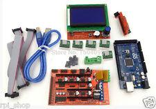 3D printer electronics kit Mega 2560+Ramps1.4+A4988 Drivers+12864 Full LCDRPIE30