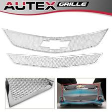 Mesh Grille Combo Main Upper + Lower Bumper Fits For Chevrolet Impala 2014-2016