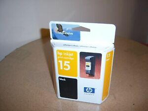 Genuine HP 15 Ink Cartridge Black Cartridge New/Sealed Exp 2004