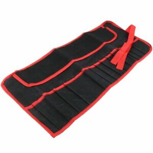 16 Pocket Tool Roll Pouch Canvas Spanner Wrench Storage Case Fold Up Bag Nillkan