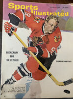 Sports Illustrated January 25, 1965 Chicago's Bobby Hull