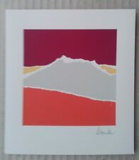 Arthur Secunda 1985 ORIGINAL ABSTRACT SIGNED LITHOGRAPH PRINT LANDSCAPE MEXICAN