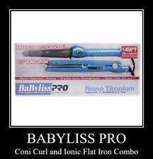 Babyliss Pro Nano Titanium Flat Iron and Coni Curl Combo - Brand New