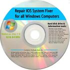 HP COMPUTER REPAIR / RECOVERY BOOT CD FOR WINDOW 7, Vista & XP
