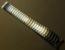 Mens EASY READER Timex Stainless Steel Expansion 20mm T2P814 Two Tone Watch Band